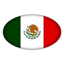 Mexico Oval Sticker (10 pk)
