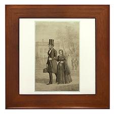 Abraham & Mary Todd Lincoln Framed Tile