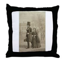 Abraham & Mary Todd Lincoln Throw Pillow