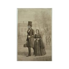 Abraham & Mary Todd Lincoln Rectangle Magnet