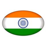 India Oval Sticker (10 pk)