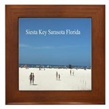 Siesta Key Sarasota Florida Framed Tile