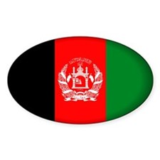 Afghanistan Oval Sticker (10 pk)