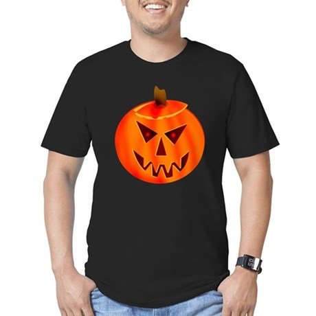 Evil Jack-O-Lantern Men's Fitted T-Shirt (dark)