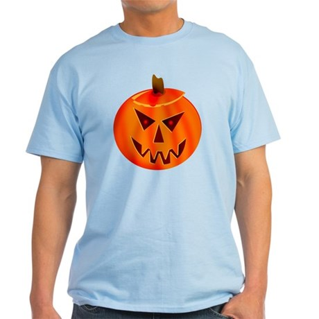 Evil Jack-O-Lantern Light T-Shirt