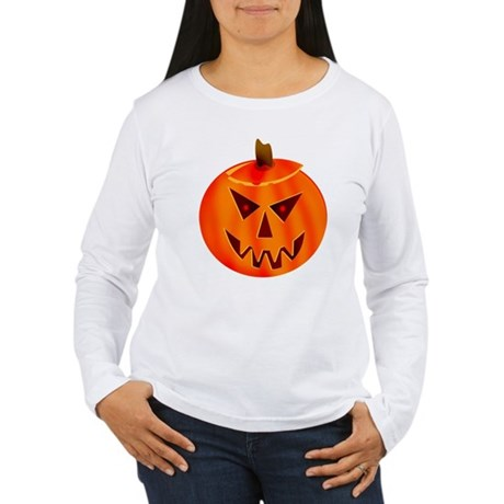 Evil Jack-O-Lantern Women's Long Sleeve T-Shirt