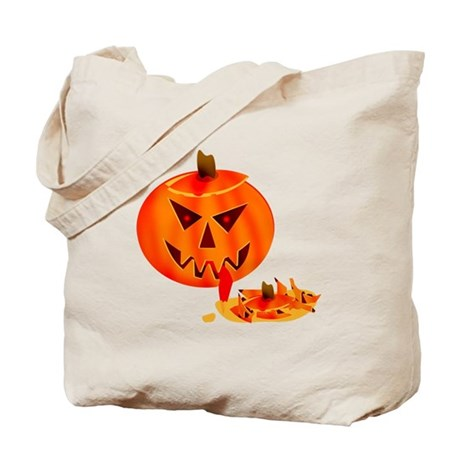 Cannibal Jack-O-Lantern Tote Bag