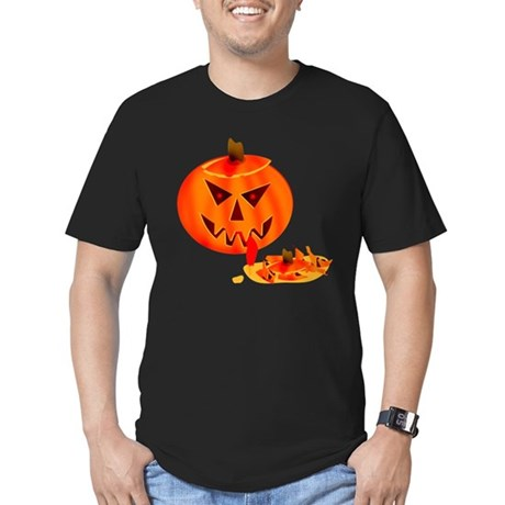 Cannibal Jack-O-Lantern Men's Fitted T-Shirt (dark