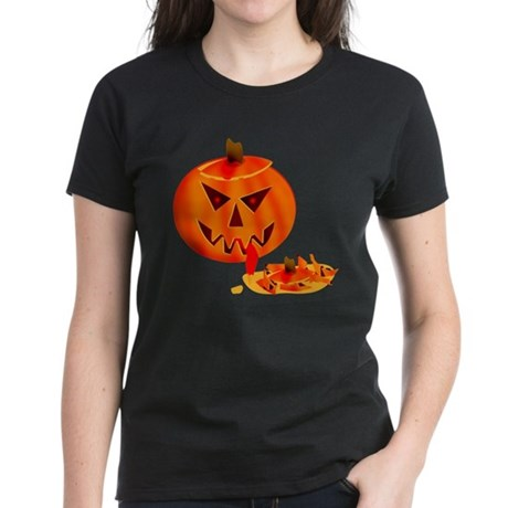 Cannibal Jack-O-Lantern Women's Dark T-Shirt