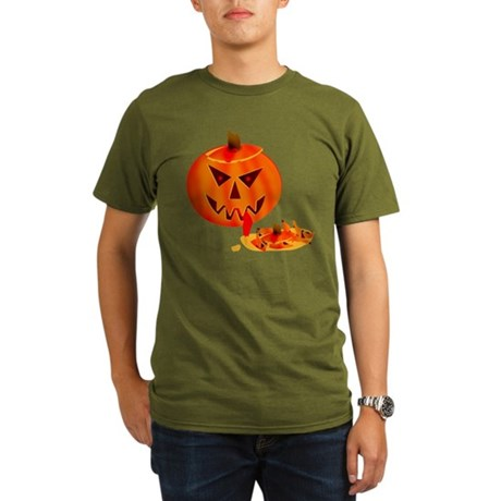 Cannibal Jack-O-Lantern Organic Men's T-Shirt (dar