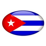 Cuba Oval Sticker (10 pk)