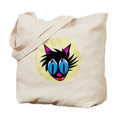 Cute Black Cat Moon Tote Bag