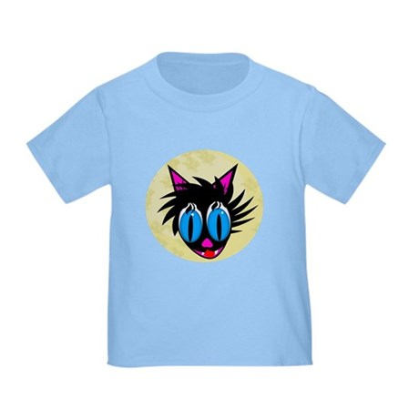 Cute Black Cat Moon Toddler T-Shirt