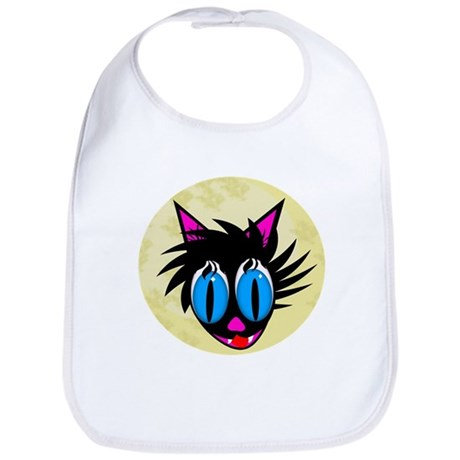Cute Black Cat Moon Bib
