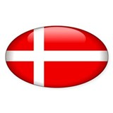Denmark Oval Sticker (50 pk)