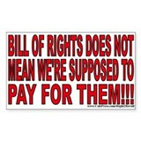 """Bill"" of Rights (sticker)"