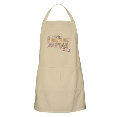I Drop Science BBQ Apron