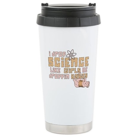 I Drop Science Ceramic Travel Mug