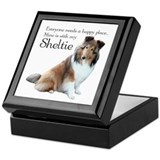 Happy Place Sheltie Keepsake Box