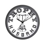 Trophy Husband Wall Clock