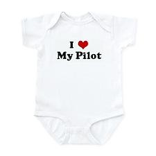 I Love My Pilot Onesie