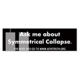 Symmetrical Collapse Bumper Sticker (50 pk)