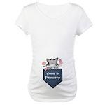 Cute Kitty January Baby Maternity T-Shirt