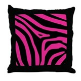 Pink Zebra Print Pillow