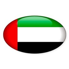 United Arab Emirates Oval Sticker (10 pk)