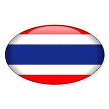 Thailand Oval Sticker (10 pk)