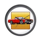 Red w/Black Stripes El Camino Wall Clock