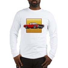 Red w/Black Stripes El Camino Long Sleeve T-Shirt