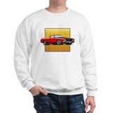 Red w/Black Stripes El Camino Sweatshirt