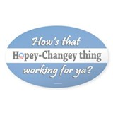 Hopey Changey Oval Decal