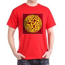 Celtic Spiral Black T-Shirt