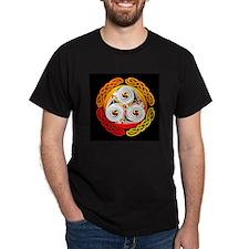 Celtic Spiral Orange Black T-Shirt