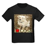 I Love Dogs Kids Dark T-Shirt