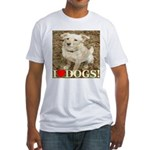 I Love Dogs Fitted T-Shirt