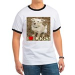 I Love Dogs Ringer T