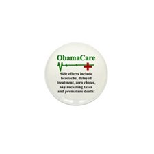 ObamaCare - Side Effects Mini Button (100 pack)