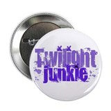 "Twilight Junkie - purple 2.25"" Button"