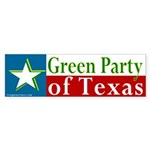 Texas Green Party Bumper Sticker