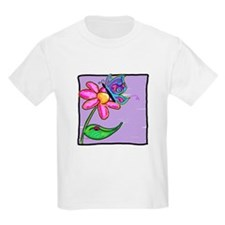 Butterfly, Ladybug & Flower Kids T-Shirt