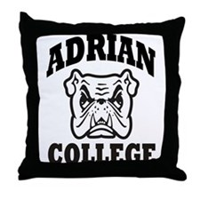 adrian college bulldog wear Throw Pillow