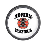 adrian maple basketball Wall Clock