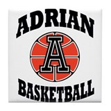 adrian maple basketball Tile Coaster