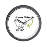 Chicken Butt Wall Clock