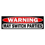 Warning: May Switch Parties Sticker