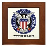 Cute Bocce Framed Tile