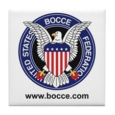Cute Bocce ball club Tile Coaster